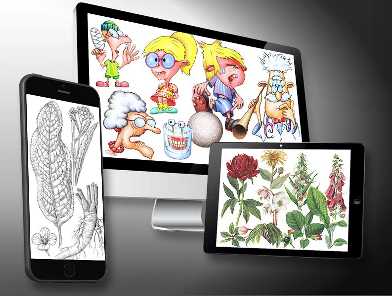 MediDesign Frank Geisler, Bilder Zeichnungen Illustrationen