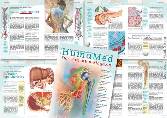 Grafikdesign Layout Typografie Printmedien Zeitschrift Medizin