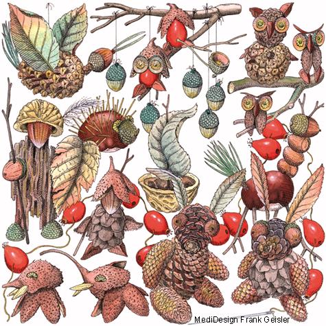 Zeichnung Illustration Kinderbuch Basteln Herbst